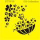 Šablona ITD - Deštník plný květů 16x16