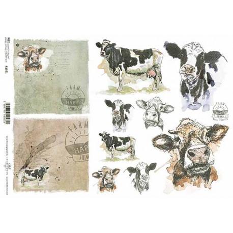 Papír rýžový A4 Šťastná farma, kráva