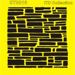 Šablona ITD - Kamenná zeď 16x16