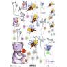 Papír rýžový A4 Medvídek a včelky