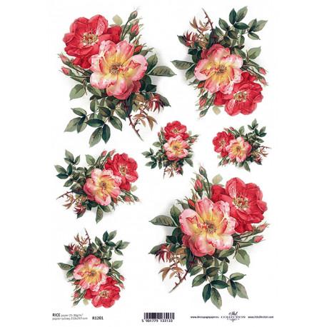 Papír rýžový A4 Planá růže