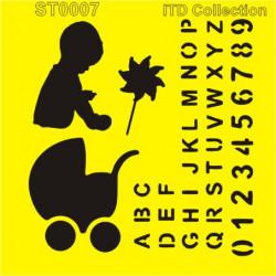 Šablona ITD - Pro kluka, abeceda a čísla 16x16