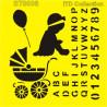 Šablona ITD - Pro holku, abeceda a čísla 16x16