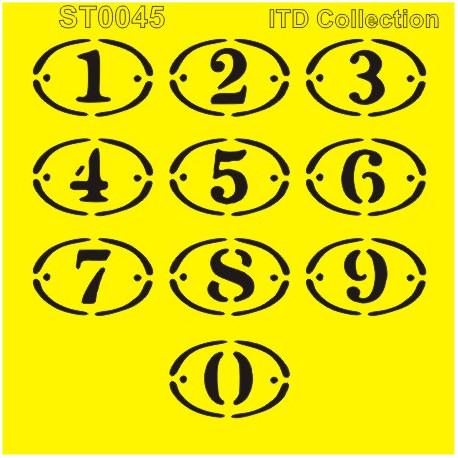Šablona ITD - Štítky s číslicemi 16x16