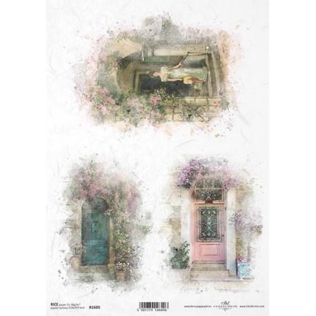 Papír rýžový A4 Romantické dveře