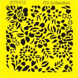 Šablona ITD - Květinvý vzor 16x16