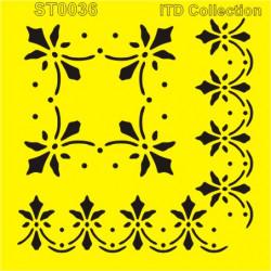 Šablona ITD - Středový vzor, roh 16x16