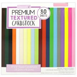 Sada barevných texturovaných papírů 15x15 220g, 80 listů (Dovecraft)