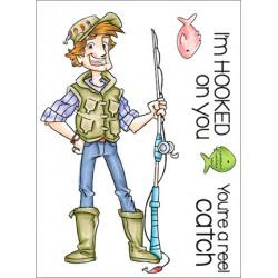 Transparentní razítka - Rybář Fred (C.C.Designs)
