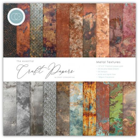 Sada papírů 15x15 Metal Textures (CC)