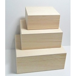 Dřevěné krabice 3v1 - obdélníkový tvar