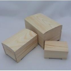 Dřevěné truhlice 3v1