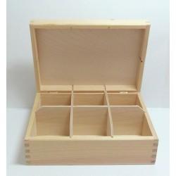 Krabička na čaj 6 komor (bez zámečku) - 2. jakost