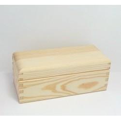 Krabička na čaj - 3 komory, oblé víko - 2. jakost