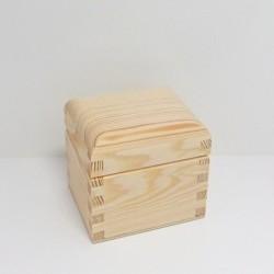 Krabička na čaj - 1 komora, oblé víko - 2. jakost