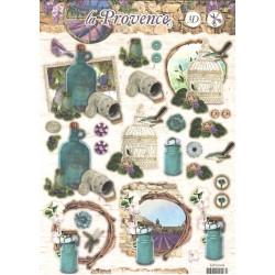 Papírové výseky A4 - La Provence, láhev (SL)