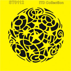 Šablona ITD - Koule s hvězdami 16x16
