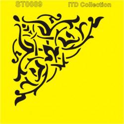 Šablona ITD -Velký rohový ornament 16x16