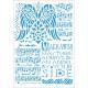 Šablona - Křídla, noty A4 (Stamperia)