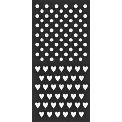 Šablona Mix Media 12x25 - Puntíky & srdíčka (Stamperia)