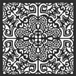 Šablona Mix Media 18x18 - Velká dlaždice (Stamperia)