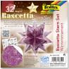 Origami hvězda Bascetta - zimní vzor