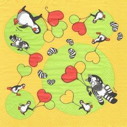 Tučňáčci a zebry s balónky 33x33