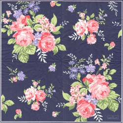 Rose Dark Blue 33x33