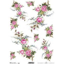 Papír rýžový A4 Růžičky s pomněnkami