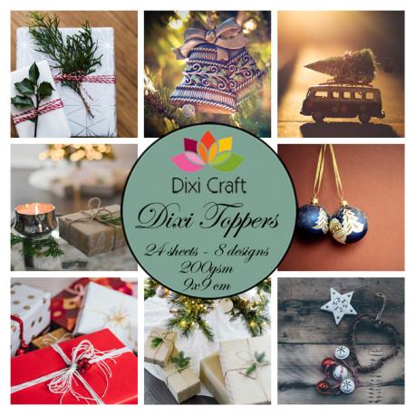 Sada kartiček 9x9cm - Vánoční obrázky (Dixi Craft)