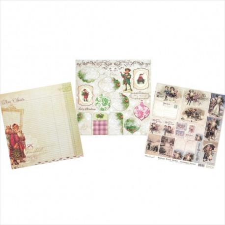 Výhodná vánoční sada - papíry 30,5x30,5cm (SCR770673, SCRLM0075, SCR220JOY107)