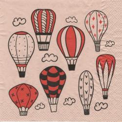 Horkovzdušné balóny na růžové 33x33