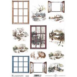 Scrap.papír A4 Zimní obrázky a okna hranatá