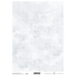 Scrap.papír A4 Bílá srdíčka na modrém mramorování