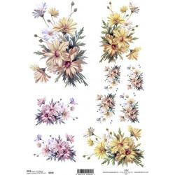 Papír rýžový A4 Jemné kytice