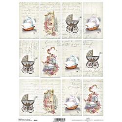 Papír rýžový A4 Baby Vintage, písmo