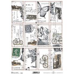 Papír rýžový A4 Vintage motivy