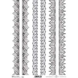Papír rýžový A4 Bordury barokní