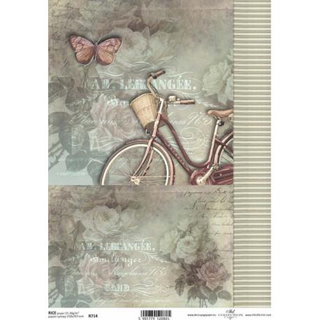 Papír rýžový A4 Jízdní kolo, proužky