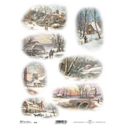 Papír soft A4 Starobylé stavby v zimě