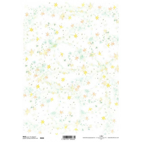 Papír rýžový A4 Hvězdičky a vločky