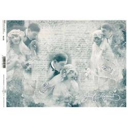 Papír rýžový A4 Novomanželé, domodra