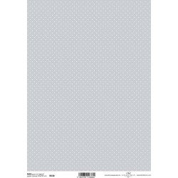 Papír rýžový A4 Celoplošný, modrošedý s puntíky