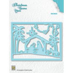 Vyřezávací šablona Vánoční obraz - Narodilo se děťátko (Nellie´s Choice)