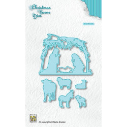 Vyřezávací šablony Vánoční obraz - Narození (Nellie´s Choice)