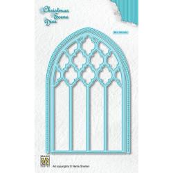 Vyřezávací šablony Vánoční obraz - Gotické okno (Nellie´s Choice)