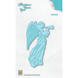 Vyřezávací šablona Vánoční obraz - Anděl (Nellie´s Choice)