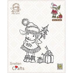 Transparentní razítko Little Lammy, dárky (Nellie´s Choice)