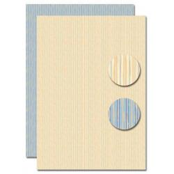 Papír na pozadí A4 - béžovomodré proužky