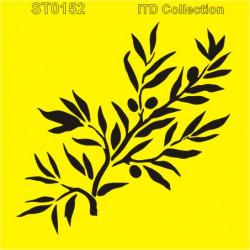 Šablona ITD - Olivová větvička 16x16